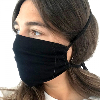 face mask mantis mx1 black organic cotton