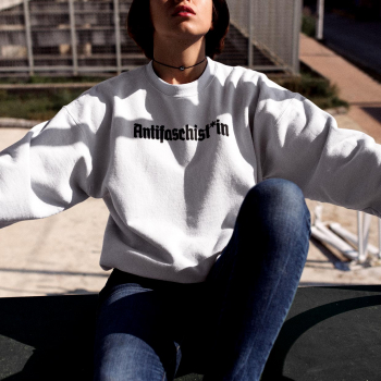 antifaschist antifaschistin antifaschist*in Sweater pullover 4
