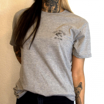 cheaphandjobs logo shirt grey 3