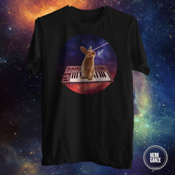 bunny rabbit synthesizer space yamaha synth shirt 3