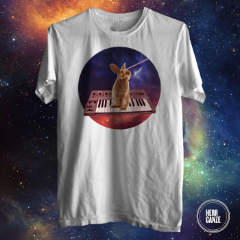 bunny rabbit synthesizer space yamaha synth shirt 2