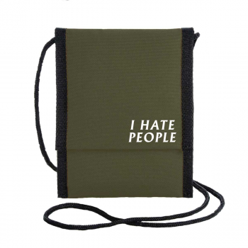 I hate people pusher bag recycled shoulder bag recyclng polyester herr ganze