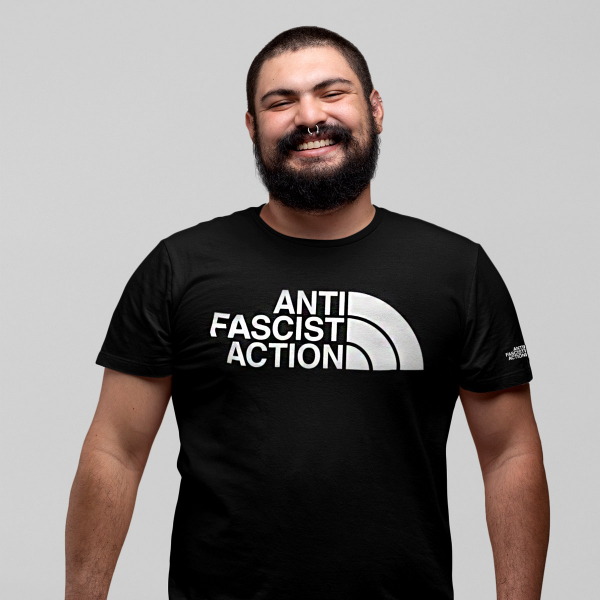 anti fascist action t shirt