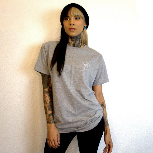 cheaphandjobs logo shirt grey 4