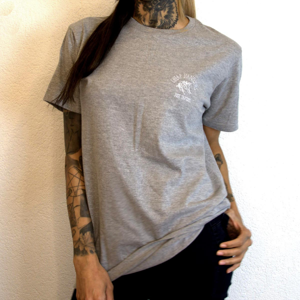 cheaphandjobs logo shirt grey 6