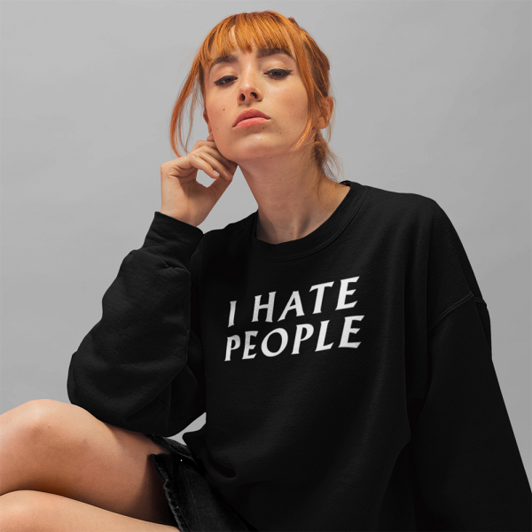I hate people sweater